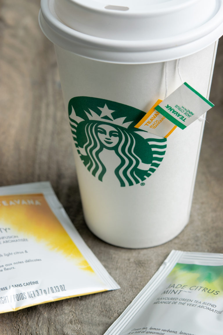what are starbucks tea bags made of